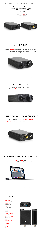 FiiO E10K Olympus 2 USB DAC and Headphone Amp
